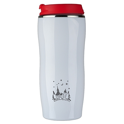 ASTANA 350 ml insulated mug with Xmas motive, red/white