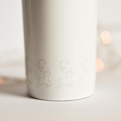 WINNIPEG thermo mug 350 ml with christmas motive, white