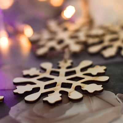 XMAS SNOWFLAKE decoration, beige
