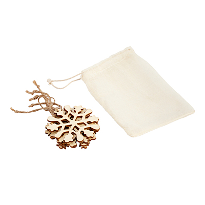 CHRISTMAS TREE II Xmas tree decoration cut-out set, beige