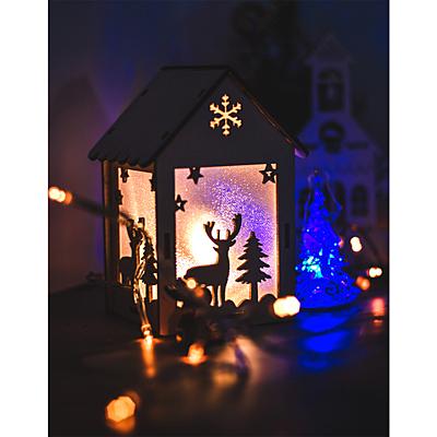 CHRISTMAS LANTERN Christmas lantern decoration, white