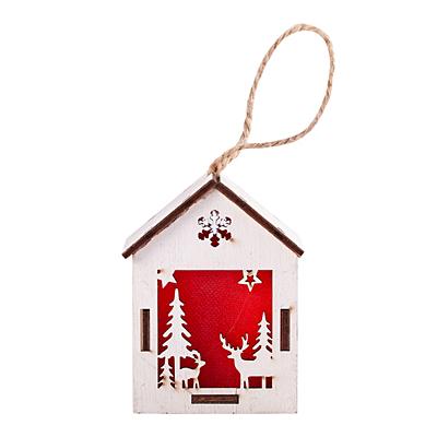 CHRISTMAS LANTERN II Christmas lantern decoration, white